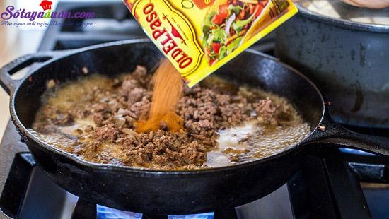 cách làm bánh taco hình nón 3