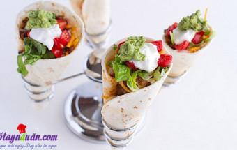 Nấu ăn món ngon mỗi ngày với Phô mai xắt nhỏ, cách làm bánh taco hình nón 4