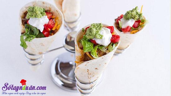 cách làm bánh taco hình nón 4