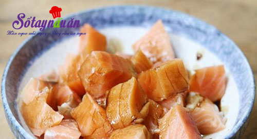 Cá hồi xào đậu nấm ngon mê mẩn đưa cơm 1