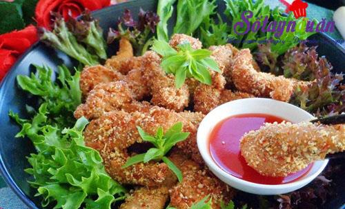 Thịt gà chiên cùng gạo rang giòn thơm khó cưỡng kết quả