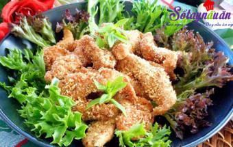 Nấu ăn, Thịt gà chiên cùng gạo rang giòn thơm khó cưỡng kết quả