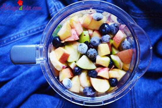 cách làm sinh tố hoa quả 9