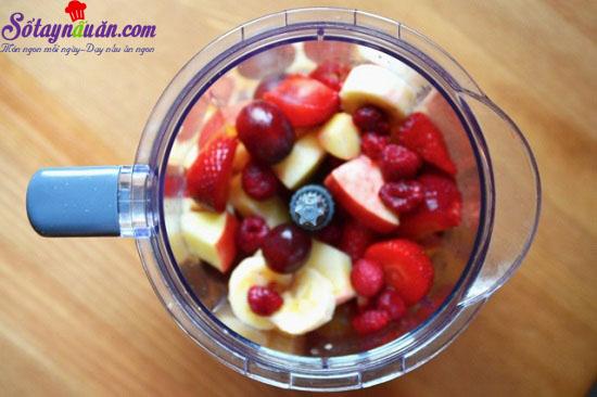 cách làm sinh tố hoa quả 2