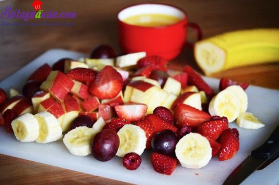 cách làm sinh tố hoa quả 3