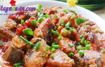 cách làm món nhậu, Cá thu chiên sốt cà chua đậm đà đưa cơm