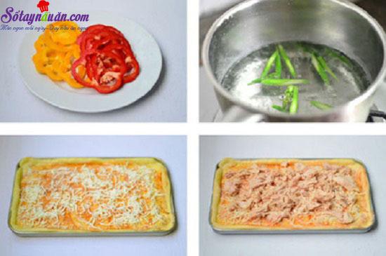 cách làm pizza cá ngừ 4