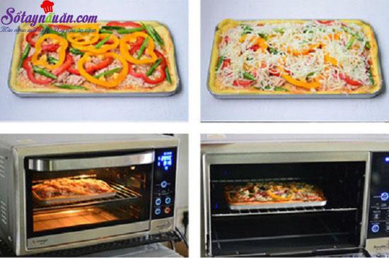 cách làm pizza cá ngừ 5