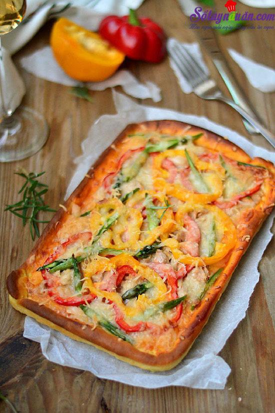 cách làm pizza cá ngừ 6