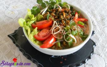 Nấu ăn món ngon mỗi ngày với Rau ăn kèm, cách làm bún ốc 1
