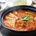 món ăn lạ, cách làm canh kim chi thịt heo 8