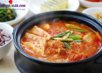 Ngon cơm với canh kim chi thịt heo kiểu Hàn