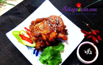cách làm món nhậu, Đùi gà chiên sốt teriyaki - ăn là không thể ngừng