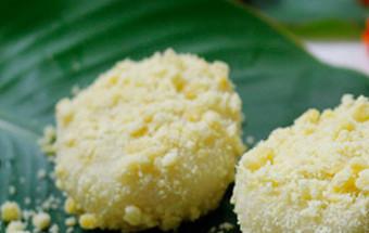 cách làm bánh, Học làm bánh giầy đậu xanh dẻo thơm hết nấc kết quả
