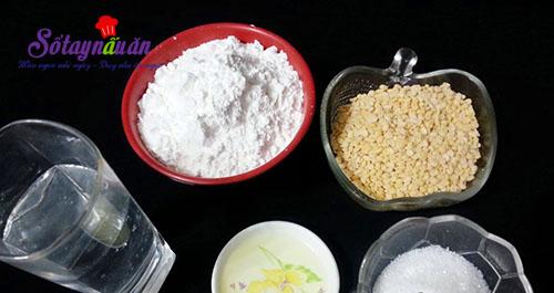 Học làm bánh giầy đậu xanh dẻo thơm hết nấc nguyên liệu