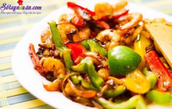 Nấu ăn món ngon mỗi ngày với Tỏi, cách làm tôm xào cầu vồng 7