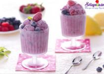 Hướng dẫn làm kem hoa quả mát lạnh