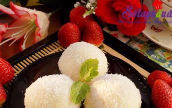 cách làm bánh, Cách làm mochi hoa quả dẻo thơm mát lành kết quả