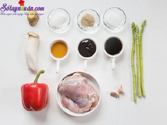 cách làm thịt gà xào nấm 1