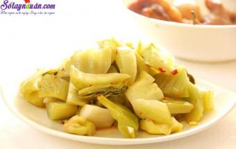 Nấu ăn món ngon mỗi ngày với Gừng, cách làm dưa cải muối 1