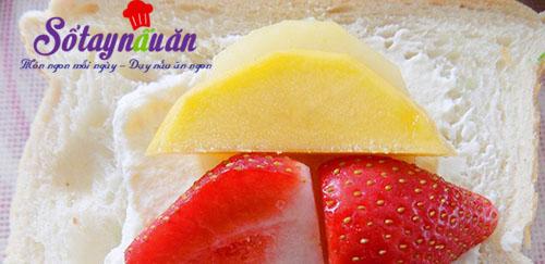 Học làm bánh mì sandwich kẹp trái cây lạ mà ngon tuyệt 3