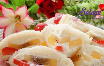 Món ăn vặt lạ, Học làm bánh mì sandwich kẹp trái cây lạ mà ngon tuyệt kết quả