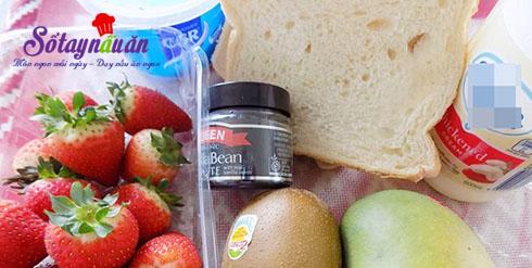 Học làm bánh mì sandwich kẹp trái cây lạ mà ngon tuyệt nguyên liệu