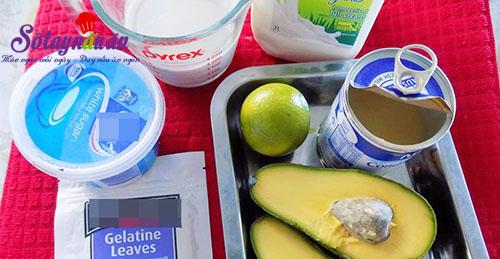 Học làm chè bơ cực ngon cực dễ cho ngày hè nguyên liệu