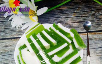 Những món ăn vặt, Học làm thạch lá dứa sữa tươi thơm mát cực đã kết quả