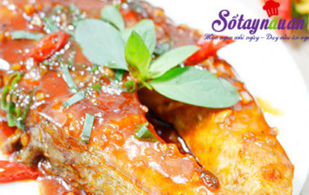 món ăn chiên, Ngon cơm với cá hồi áp chảo sốt chua ngọt kết quả