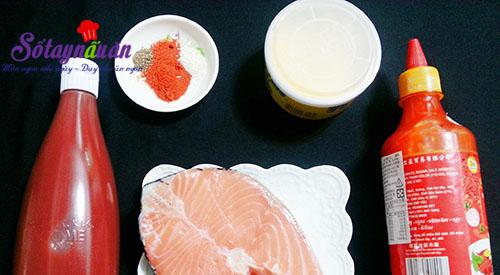 Ngon cơm với cá hồi áp chảo sốt chua ngọt nguyên liệu