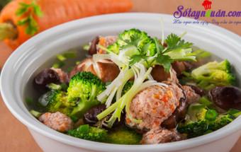 Nấu ăn món ngon mỗi ngày với Gia vị, cách làm canh mọc nấu rau củ 1
