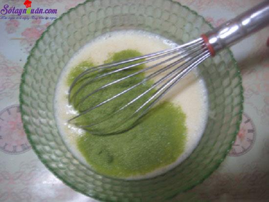 cách làm bánh flan trà xanh caramel 5