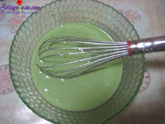 cách làm bánh flan trà xanh caramel 6