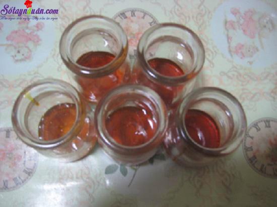 cách làm bánh flan trà xanh caramel 3