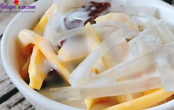 Những món ăn vặt, cách làm chè thái sầu riêng 6