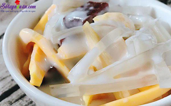 hướng dẫn cách nấu ăn ngon hàng ngày, Mát lạnh ngày hè với chè thái sầu riêng thơm lừng