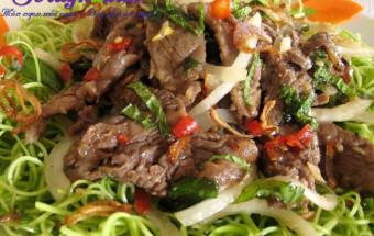 Nấu ăn món ngon mỗi ngày với Lạc rang, Cách làm nộm rau muống - ăn là thèm