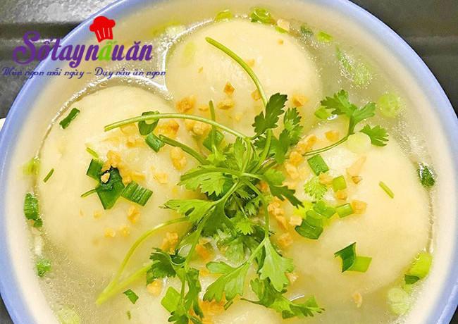 dạy nấu ăn ngon, Cách làm súp khoai tây bọc thịt ngon mê mẩn