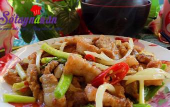 Nấu ăn món ngon mỗi ngày với 1 muỗng canh đường, Cách làm thịt rang đậm đà ngon cơm
