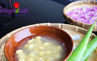 1/2 trái chanh, Hướng dẫn nấu chè nha đam hạt sen thơm mát ngày hè