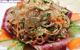 ăn ngon mỗi ngày, cách làm nộm sứa hoa chuối 4
