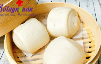 Nấu ăn món ngon mỗi ngày với 70gr đường, Cách làm bánh bao chay cực dễ cho bữa sáng