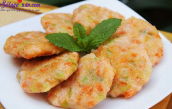 Nấu ăn món ngon mỗi ngày với Bột năng, cách làm chả tôm