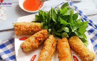 Nấu ăn món ngon mỗi ngày với Bột chiên xù, cách làm nem hải sản 9