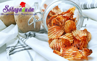 món ăn chiên, Cách làm snack khoai tây cay cay giòn rụm
