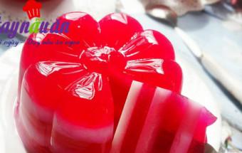Món ăn vặt, Cách làm thạch sữa chua thanh long đỏ mát bổ ngày hè