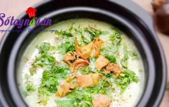Nấu ăn món ngon mỗi ngày với Nước mắm, Cách nấu cháo trai thơm ngon ngất ngây đãi cả nhà