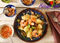 Học làm salad tôm bưởi giảm cân siêu hiệu quả
