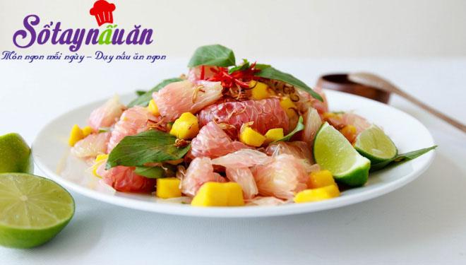 Học làm salad tôm bưởi giảm cân siêu hiệu quả 4